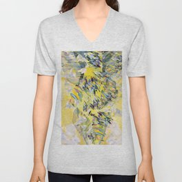 Yellow Flower Storm Unisex V-Neck