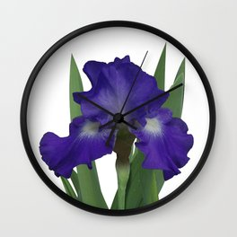 Stellar Lights, Deep blue-violet Iris Wall Clock