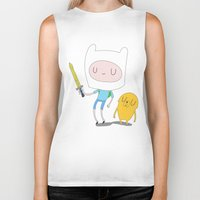 finn and jake Biker Tanks featuring Finn & Jake by Rod Perich
