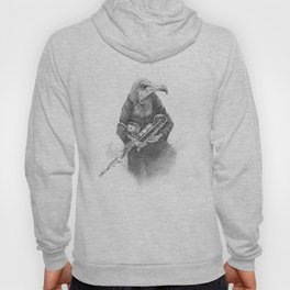 Hooded Vulture with Uilleann Pipes by Pia Tham Hoody