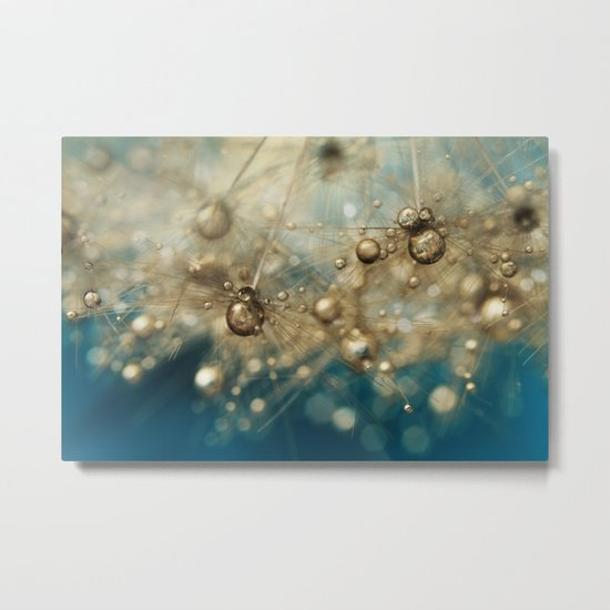 Ocean Deep Dandy Drops Metal Print