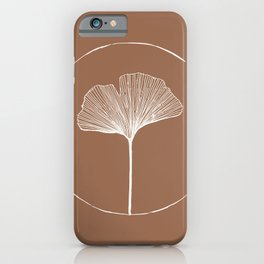 Hand Drawn Ginkgo Leaf iPhone Case