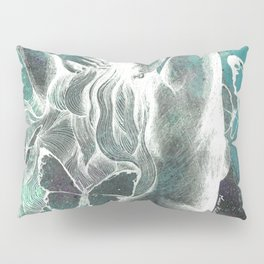 Sugar Coated Sour: Negative (nude curvy pin up with butterflies) Pillow Sham