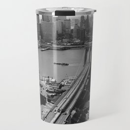 Looking NW Towards Manhattan / Twin Towers Travel Mug