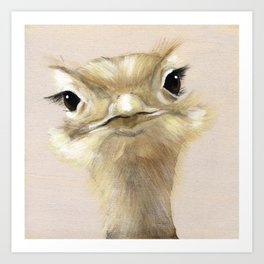 Her Smile Will Fool You - Ostrich Art Print
