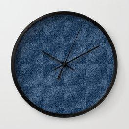 Jeans Textile Art - 9 Wall Clock