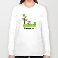 gameboy Long Sleeve T-shirts featuring Gameboy by Janismarika