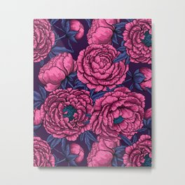 Pink peony bouquet  Metal Print