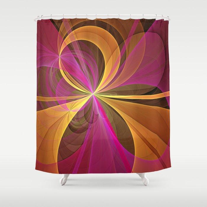 Luminous Colors, Abstract Fractal Art Shower Curtain