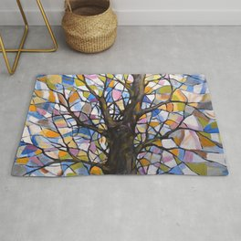 Stained Glass Tree #1 Rug