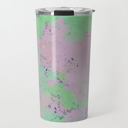 Green, Pink, and Navy Digital Design Travel Mug