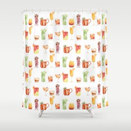 Happy Hour Drinks Shower Curtain