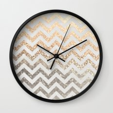 GOLD & SILVER  Wall Clock