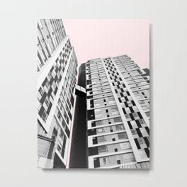 Blush Sky Building Metal Print