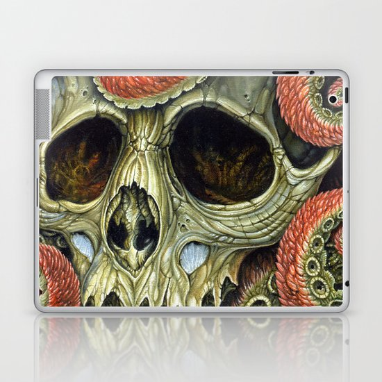 orange tentacles skull Laptop & iPad Skin