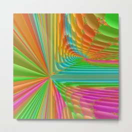 Abstract 359 a dynamic fractal Metal Print