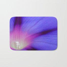 Macro of A Royal Purple Ipomoea Flower Bath Mat