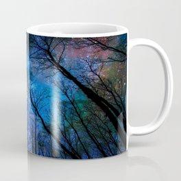 Black Trees Dark Blue Space Coffee Mug