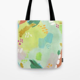 Bright Paints + Gold Tote Bag