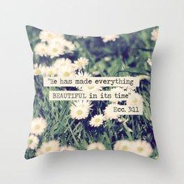Daises (Ecclesiastes 3:11) Throw Pillow