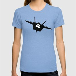 Fighter Jet Silhouette (Front-View) T-shirt