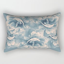 Blush Blue Peony Flower Bouquet #1 #floral #decor #art #society6 Rectangular Pillow