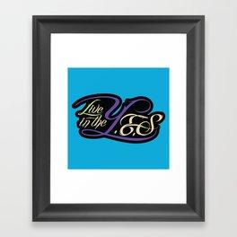 Live In The YES Logo Framed Art Print
