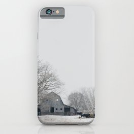 a Midwest winter photograph iPhone Case