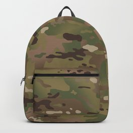 Military Woodland Camouflage Pattern Backpack