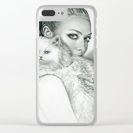 Actress with Cat Clear iPhone Case