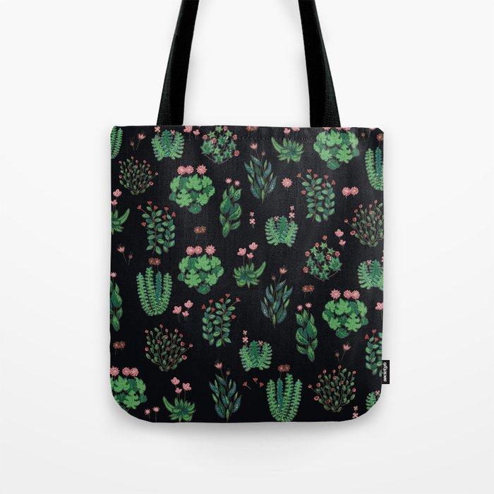 black and green garden Tote Bag