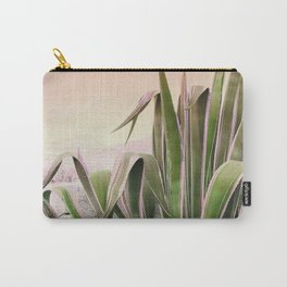 Agave in the Garden on Pastel Coral Carry-All Pouch