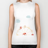 ferris wheel Biker Tanks featuring Ferris Wheel by 0720mandy