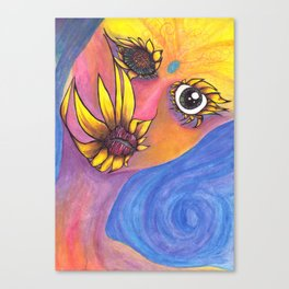 Mutated Iris Canvas Print