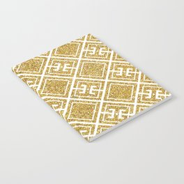 Gold Glitter Greek Pattern Notebook