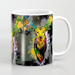 Deer PopArt Dripping Paint Coffee Mug