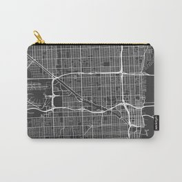 Miami Map, USA - Gray Carry-All Pouch