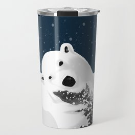 Unique Polar Bear Scene Travel Mug