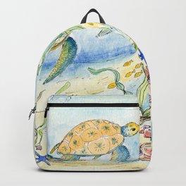 Sea Turtles, Coral and Kelp Backpack