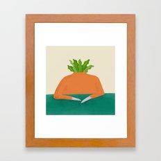Veg head Framed Art Print