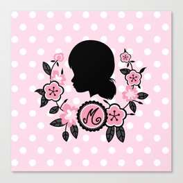 Silhouette of Marinette Canvas Print
