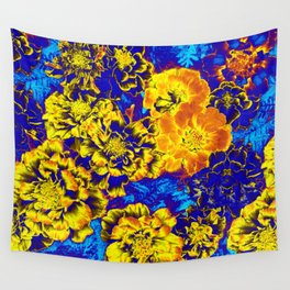 Electric Floral Wall Tapestry