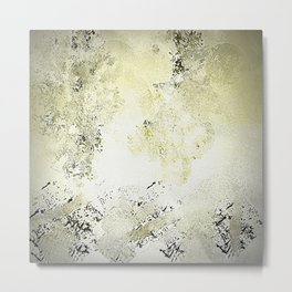 Abstract in Cremes and Dark Chocolate Metal Print