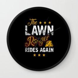 Lawn Mowing Pun Wall Clock