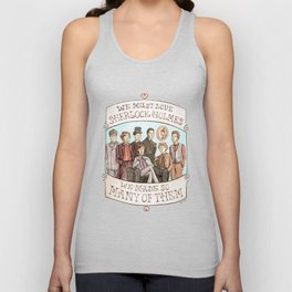 We Must Love Sherlock Holmes Unisex Tank Top