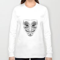 anonymous Long Sleeve T-shirts featuring Anonymous by Tuyệt Duyệt