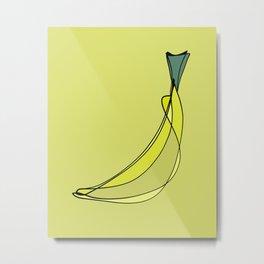 Modern Abstract Banana Metal Print