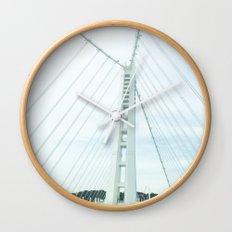 new bay bridge  Wall Clock