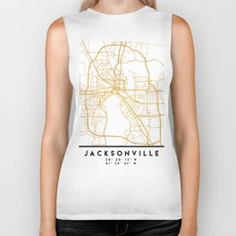 JACKSONVILLE FLORIDA STREET MAP ART Biker Tank