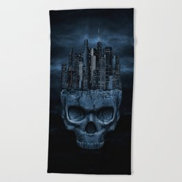 Dark city Beach Towel